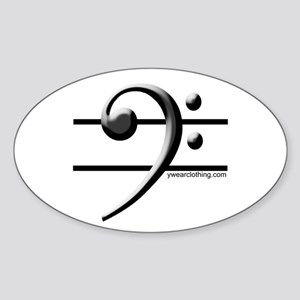 Bass Line Oval Sticker
