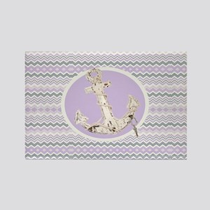 girly abstract pattern anchor Magnets