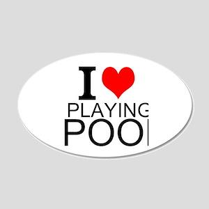 I Love Playing Pool Wall Decal