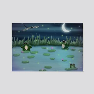 Frogs in Lilypad Pond Magnets