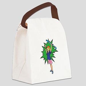 winning golfer girl Canvas Lunch Bag
