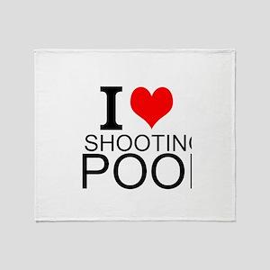 I Love Shooting Pool Throw Blanket