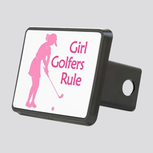 pink girl golfers rule Hitch Cover