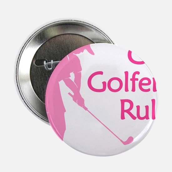 """pink girl golfers rule 2.25"""" Button"""