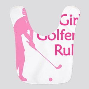 pink girl golfers rule Bib