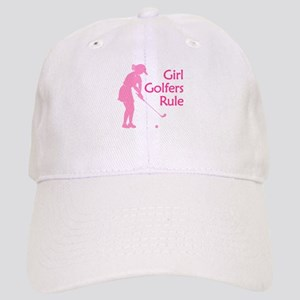pink girl golfers rule Baseball Cap