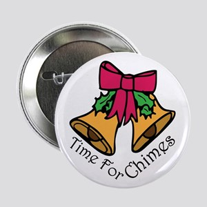 """Christmas Chimes 2.25"""" Button"""