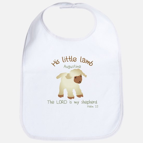 His Little Lamb Augustine Baby Gown Baby Bib