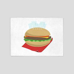 Hamburger And Fries 5'x7'Area Rug