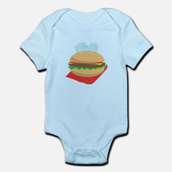 Hamburger And Fries Body Suit