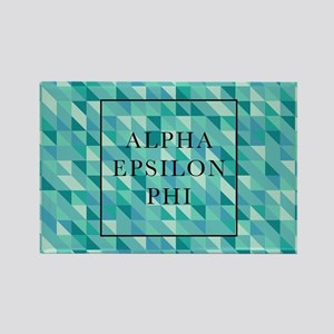 Alpha Epsilon Phi Geometric Rectangle Magnet