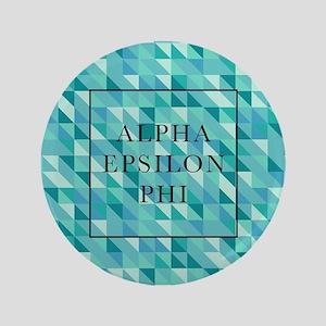 """Alpha Epsilon Phi Geometric 3.5"""" Button"""