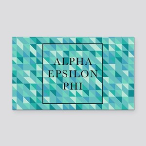 Alpha Epsilon Phi Geometric Rectangle Car Magnet