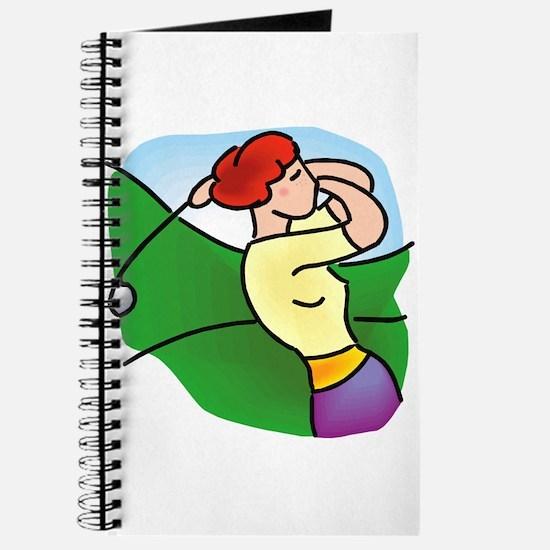 pretty lady golfer Journal
