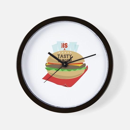 Tasty Burger Wall Clock