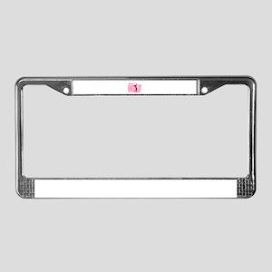 pink womens golf logo License Plate Frame