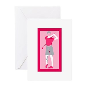Ladies Golf Greeting Cards