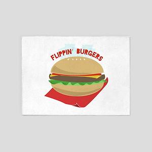 Flippin Burgers 5'x7'Area Rug