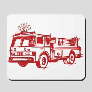 Red Fire Truck Mousepad