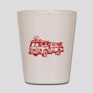 Red Fire Truck Shot Glass