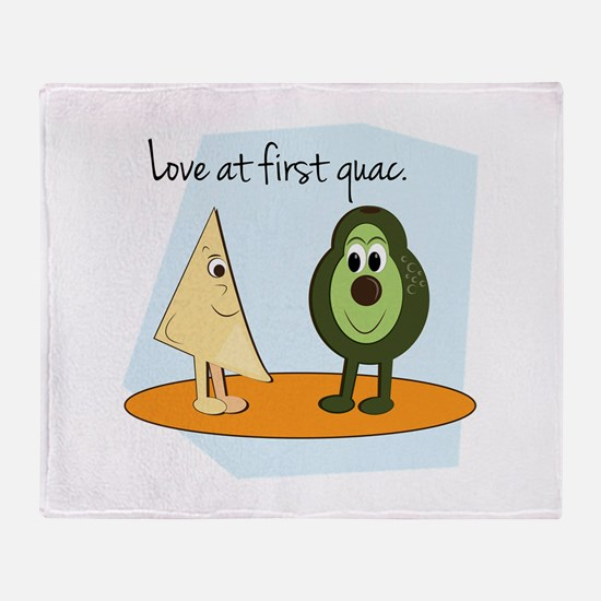 Love At First Guac. Throw Blanket