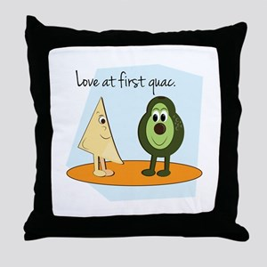 Love At First Guac. Throw Pillow