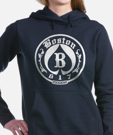 Boston 617 Wicked Women's Hooded Sweatshirt