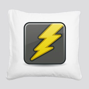 Lightning Icon Square Canvas Pillow