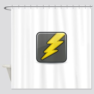 Lightning Icon Shower Curtain