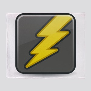 Lightning Icon Throw Blanket