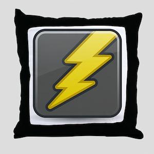Lightning Icon Throw Pillow