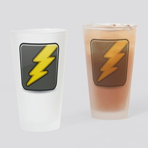 Lightning Icon Drinking Glass
