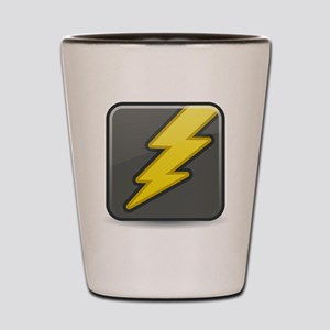 Lightning Icon Shot Glass