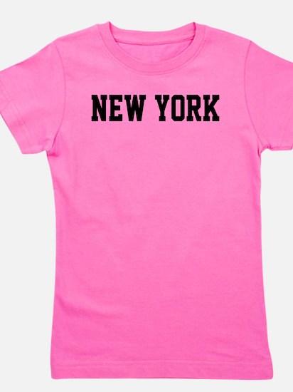 New York Jersy Black Girl's Tee
