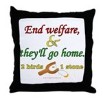 Illegals Solution Throw Pillow