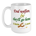 Illegals Solution Large Mug