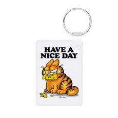Have a Nice Day Aluminum Photo Keychain