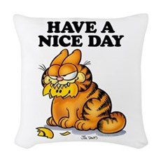 Have a Nice Day Woven Throw Pillow