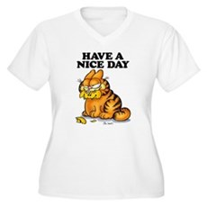 Have a Nice Day Women's Plus Size V-Neck T-Shirt