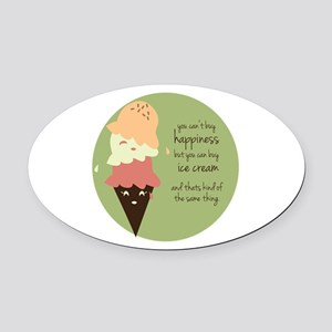 Buy Ice Cream Oval Car Magnet