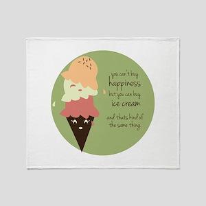 Buy Ice Cream Throw Blanket