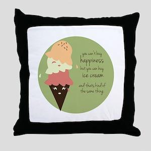 Buy Ice Cream Throw Pillow