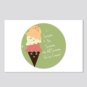 Scream For Ice Cream Postcards (Package of 8)