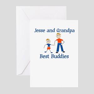 Jesse & Grandpa - Best Buddie Greeting Cards (Pack