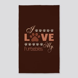 I Love My Furbabies Area Rug