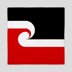 Maori Flag (Tino Rangatiratanga) Queen Duvet