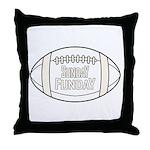 Football Sunday Funday Throw Pillow
