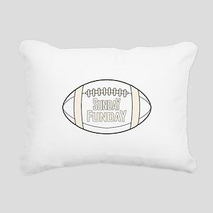Football Sunday Funday Rectangular Canvas Pillow