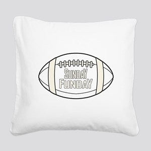 Football Sunday Funday Square Canvas Pillow