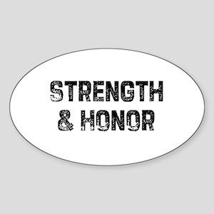 Strength & Honor Oval Sticker